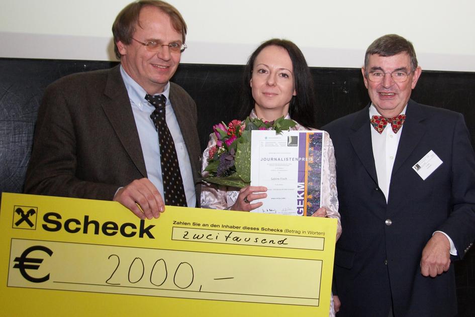 Prof. Dr. Harald Dobnig, Sabine Fisch und Prof. Dr. Hans Bröll. C Thomas Preiss